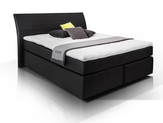 heaven boxspringbett kunstlederbezug 180 x 200 cm schwarz h rtegrad 2 3. Black Bedroom Furniture Sets. Home Design Ideas