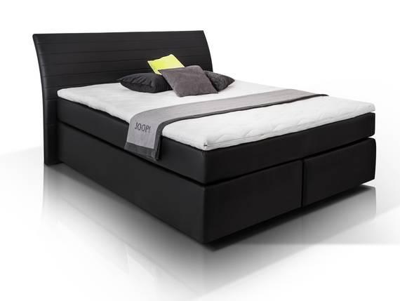 heaven boxspringbett kunstlederbezug 160 x 200 cm schwarz h rtegrad 2 3. Black Bedroom Furniture Sets. Home Design Ideas