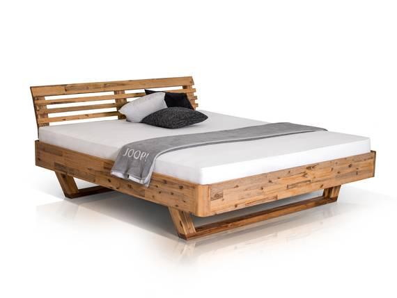 ALENA Doppelbett Akazie massiv 160 x 200 cm DETAIL_IMAGE