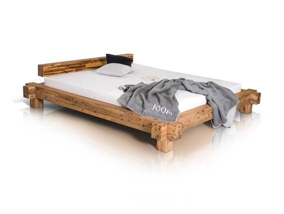 AMALIA Doppelbett Akazie gebürstet 160 x 200 cm DETAIL_IMAGE