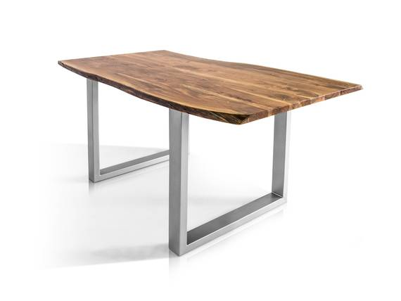 ATHEN Massivholzesstisch, Material Massivholz/Metall, Akazie lackiert 160 x 90 cm DETAIL_IMAGE