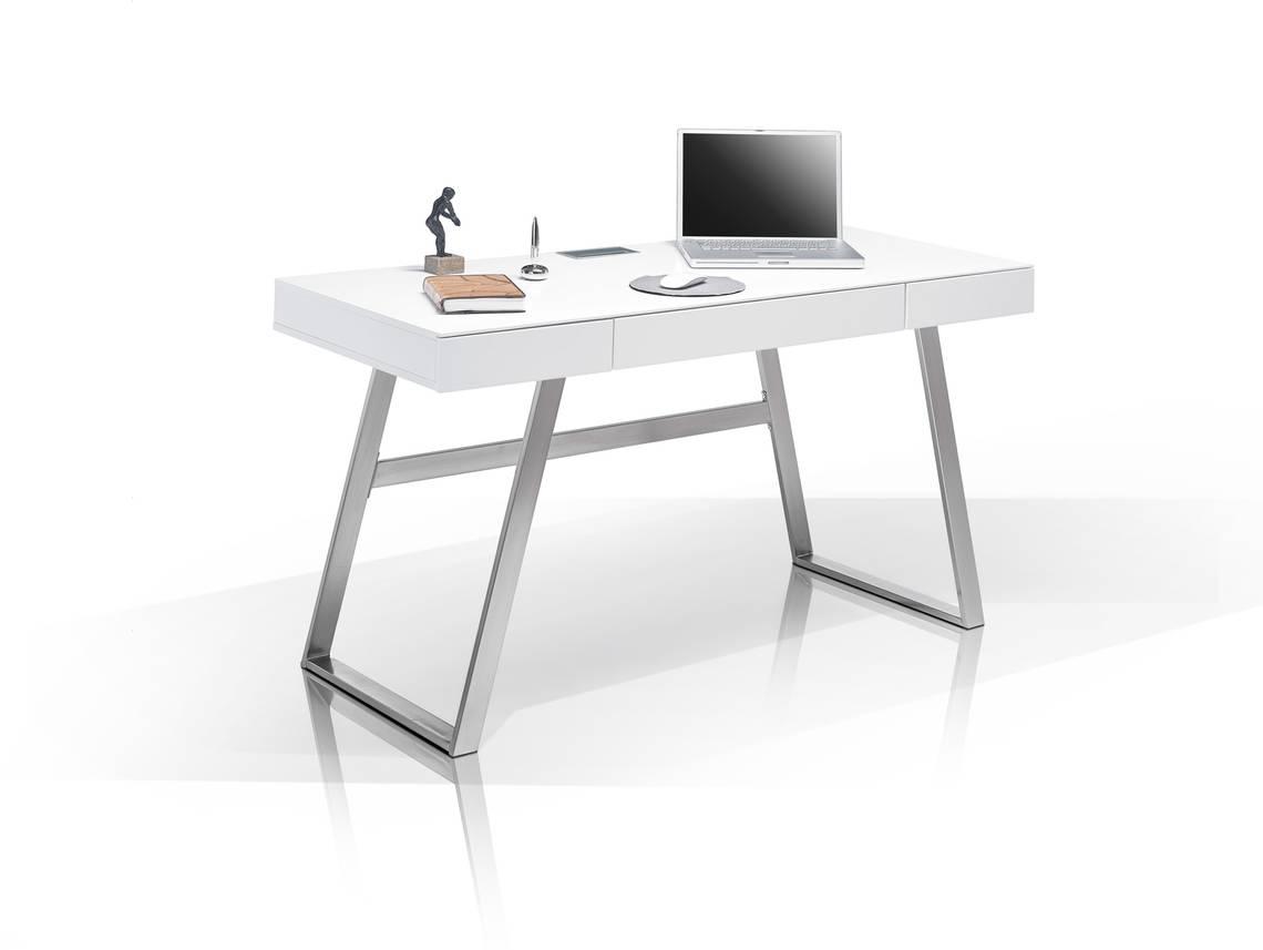 AURELA Schreibtisch Weiß Matt