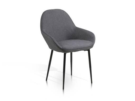 CARDY Schalenstuhl, Material Stoff/Metall, grau/schwarz  DETAIL_IMAGE