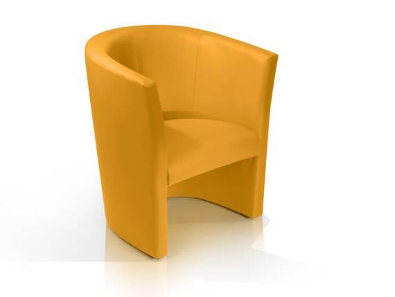 CHARLY Sessel / Cocktailsessel im Lederlook, Material Kunstleder gelb DETAIL_IMAGE