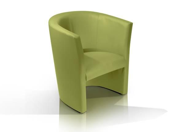 CHARLY Sessel / Cocktailsessel im Lederlook, Material Kunstleder grün DETAIL_IMAGE