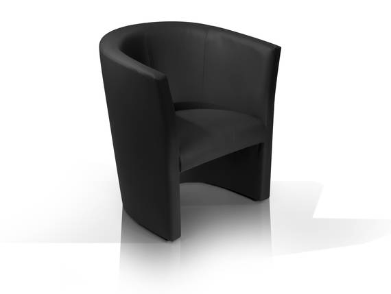 CHARLY Sessel / Cocktailsessel im Lederlook, Material Kunstleder schwarz DETAIL_IMAGE
