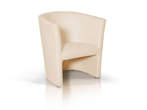 CHARLY Sessel / Cocktailsessel im Lederlook, Material Kunstleder beige DETAIL_IMAGE