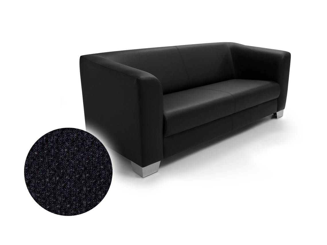 chicago 3 sitzer sofa webstoff berlin schwarz. Black Bedroom Furniture Sets. Home Design Ideas