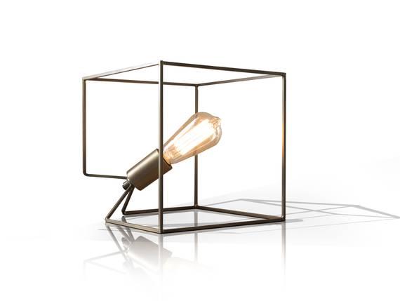CUBE Tischleuchte Bronze  DETAIL_IMAGE