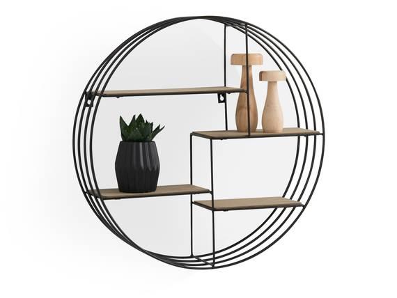 DANKO Wandregal mit 4 Ablageböden, Material Dekorspanplatte/Metall schwarz DETAIL_IMAGE