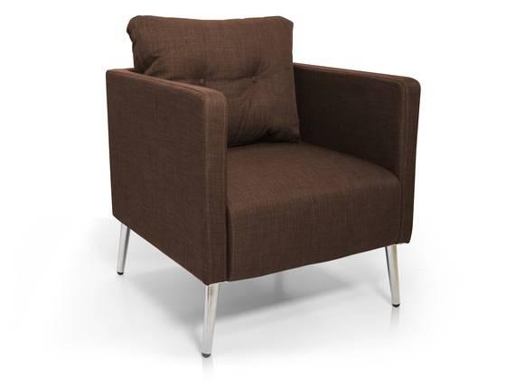 EMILIAN Sessel / Armlehnensessel, Material Stoff braun DETAIL_IMAGE