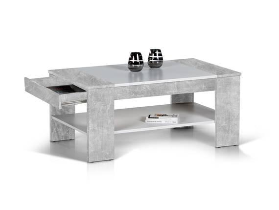 FERDA Couchtisch, Material Dekorspanplatte betonfarbig/weiss DETAIL_IMAGE