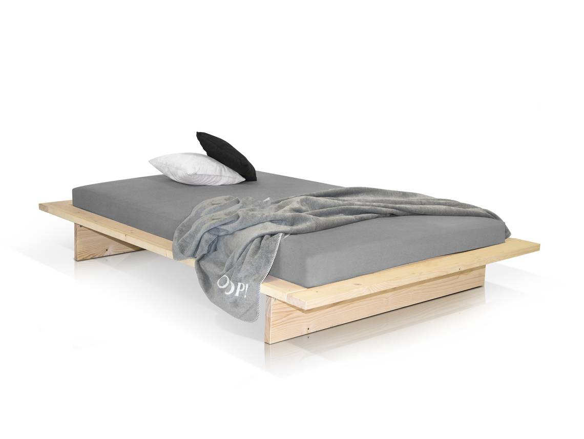 tokyo japanbett massivholzbett fichte 160x200 cm natur. Black Bedroom Furniture Sets. Home Design Ideas