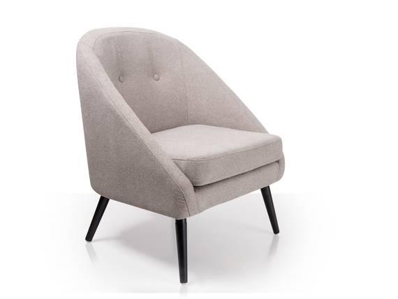 FIDU Sessel Stoffbezug / Füße schwarz hellgrau DETAIL_IMAGE