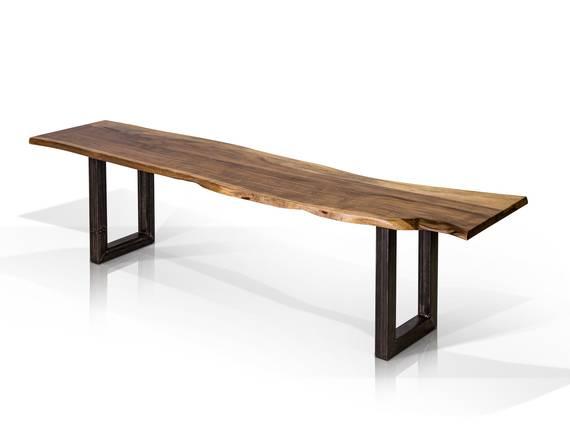 GERA Sitzbank, Material Massivholz/Metall, Akazie lackiert 160 cm DETAIL_IMAGE