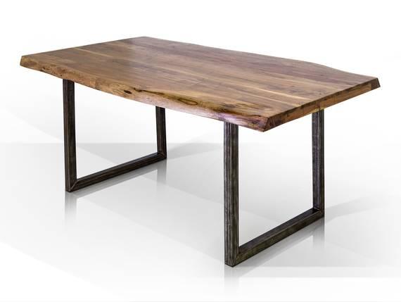 GERA Esstisch, Material Massivholz/Metall, Akazie lackiert 140x90 cm DETAIL_IMAGE