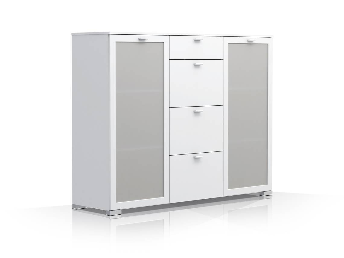 gino sideboard kommode weiss. Black Bedroom Furniture Sets. Home Design Ideas