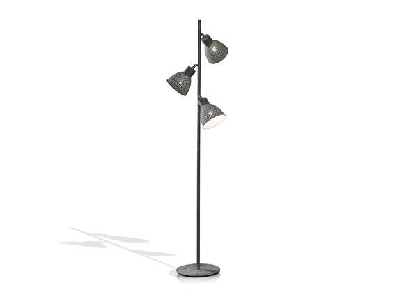 IRON Stehlampe mit 3 Lampen grau DETAIL_IMAGE