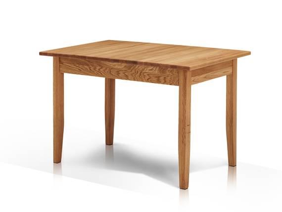 KAMINA Esstisch ohne Auszug 120x75 cm, Material Massivholz, Wildeiche geölt  DETAIL_IMAGE