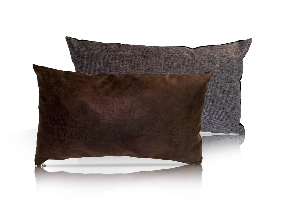 kissen 2er set vintage mocca granitgrau. Black Bedroom Furniture Sets. Home Design Ideas