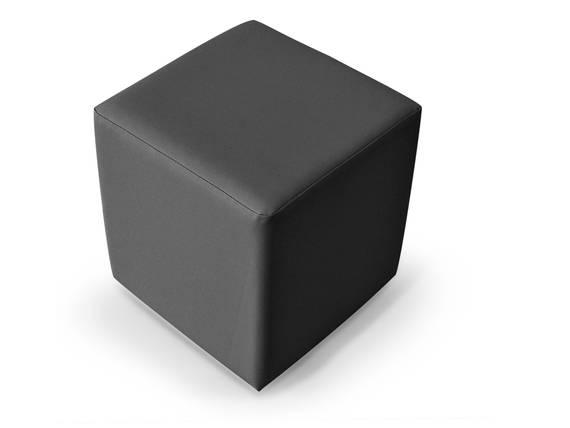 KUBUS Bequemer Sitzwürfel, Material Kunstleder 50x45x45 Bandscheibenwürfel grau DETAIL_IMAGE