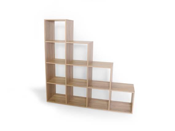 LALENA Regal / Treppe groß, Material Dekorspanplatte Eiche sonomafarbig DETAIL_IMAGE