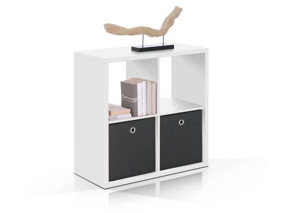 MAXI Regal 4er Würfel, Material Dekorspanplatte weiss  DETAIL_IMAGE