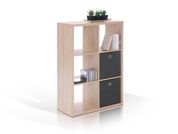 maxi regal 6 f cher eiche sonoma. Black Bedroom Furniture Sets. Home Design Ideas