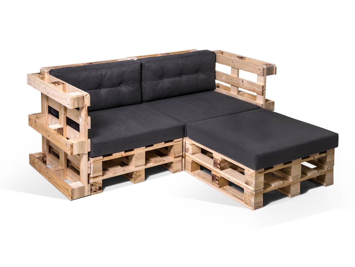 paletti ecksofa 2 sitzer aus paletten natur. Black Bedroom Furniture Sets. Home Design Ideas