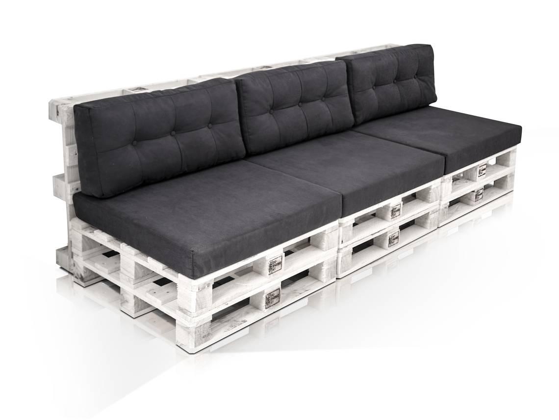 Paletti 3 sitzer sofa aus paletten kiefer weiss lackiert for Schlafsofa paletten