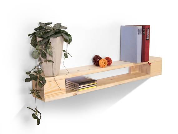PALETTI Wandregal 90 cm, Material Massivholz natur DETAIL_IMAGE