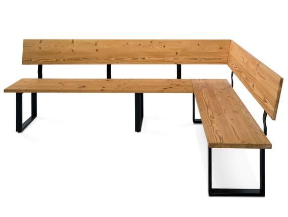 CURBY Eckbank, rustikale Altholzoptik, Material Massivholz, Fichte gebürstet 224 x 167 cm   ohne Sitzkissen DETAIL_IMAGE
