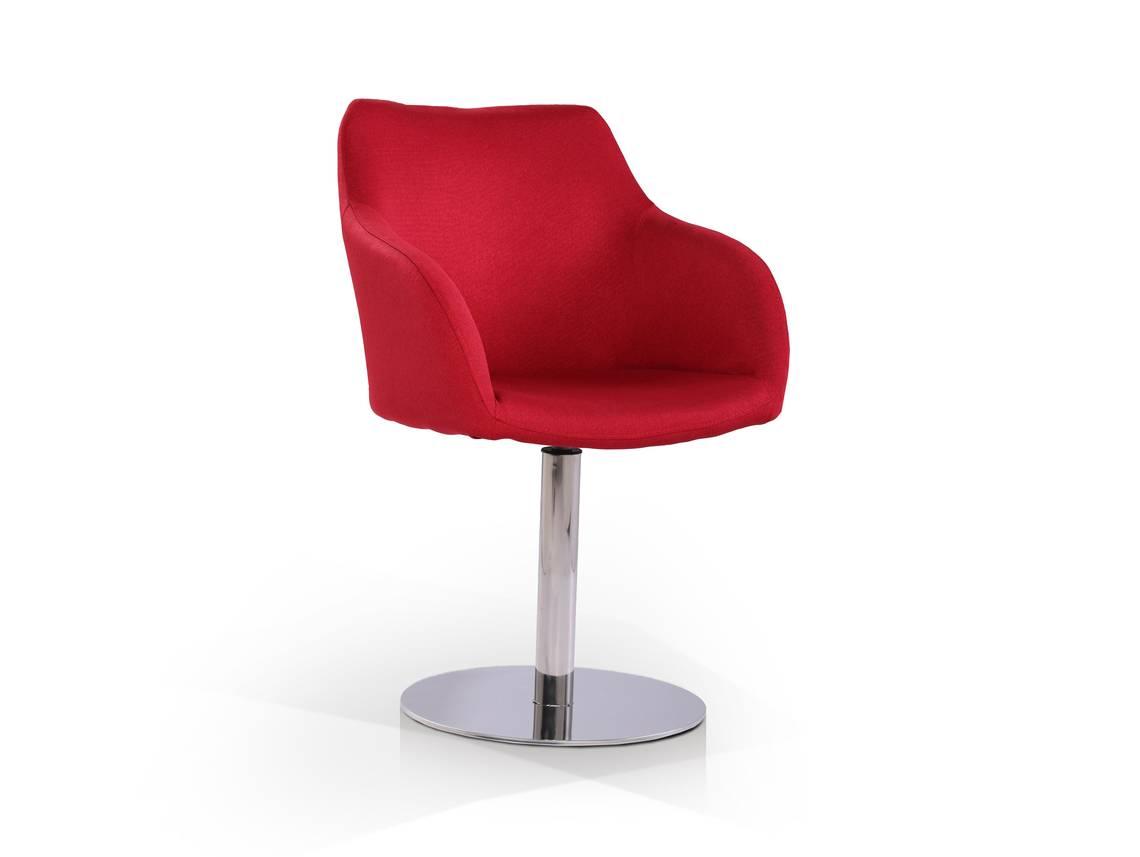 tobi schalendrehstuhl mit stoffbezug rot. Black Bedroom Furniture Sets. Home Design Ideas