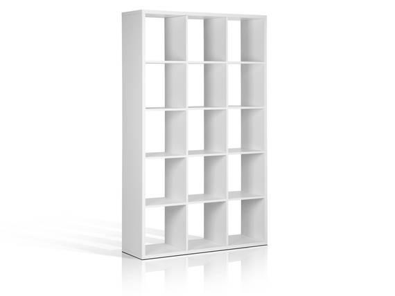 MAXI Regal mit 15 Fächern, Material Dekorspanplatte weiss  DETAIL_IMAGE