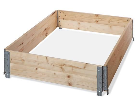 4er Set Holzaufsatzrahmen / Stapelrahmen für Europaletten 120x80 cm, Fichte massiv  DETAIL_IMAGE