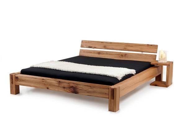 BERMUDA Doppelbett/Massivholzbett Sumpfeiche 200 x 200 cm | geölt | mit Duokopfteil DETAIL_IMAGE