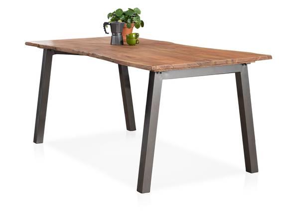 GREMO Esstisch 180x90 cm, Material Massivholz/Metall, Akazie lackiert  DETAIL_IMAGE