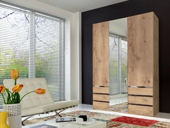 lakota dreht renschrank plankeneiche 150 cm 216 cm. Black Bedroom Furniture Sets. Home Design Ideas