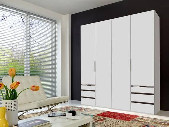 LAKOTA Drehtürenschrank, Material Dekorspanplatte weiss | 200 cm | 216 cm | ohne Spiegel DETAIL_IMAGE