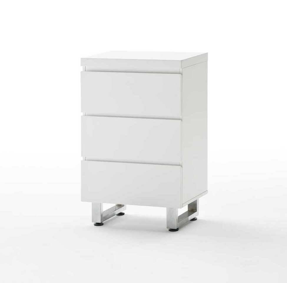 sintia ii kommode mit 3 schubk sten hochglanz wei. Black Bedroom Furniture Sets. Home Design Ideas