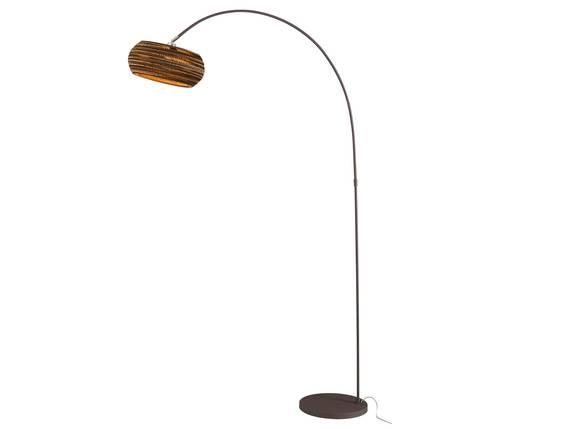 CAIDEN Stehlampe Bogenlampe braun DETAIL_IMAGE