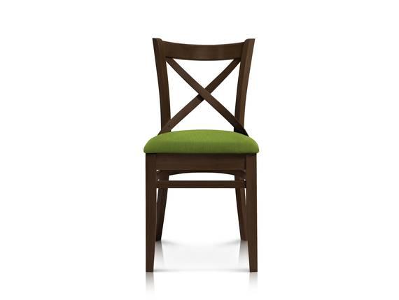 ADAM Esstischstuhl / Gastrostuhl, Material Massivholz/Stoff Walnuss/grün | Wolle DETAIL_IMAGE