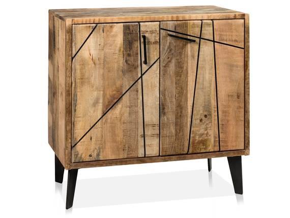 CORTEZ Kommode, 2 Türen, Material Massivholz, Mango  DETAIL_IMAGE