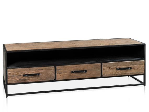 STIPO TV-Board 180 cm, Material Atholz/Metall, Schwarz  DETAIL_IMAGE