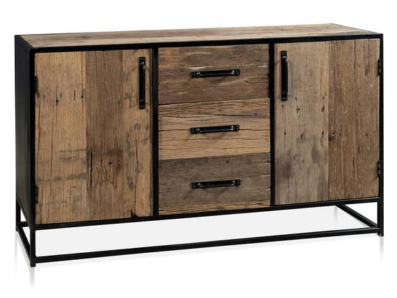 STIPO Sideboard, Material Altholz, Metall, Schwarz  DETAIL_IMAGE
