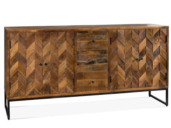 PEPONE Sideboard, Material Massivholz/Metall schwarz  DETAIL_IMAGE
