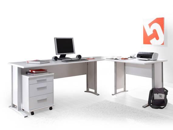 OFFICE LINE Winkelkombination, Material Dekorspanplatte weiss DETAIL_IMAGE