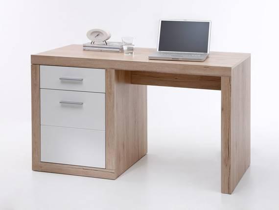 Chester schreibtisch klein san remo wei for Schreibtisch klein design