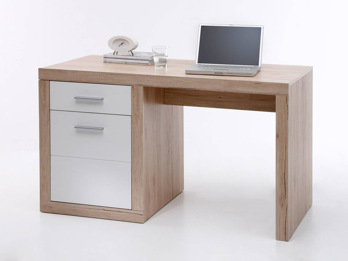 chester schreibtisch klein san remo wei. Black Bedroom Furniture Sets. Home Design Ideas