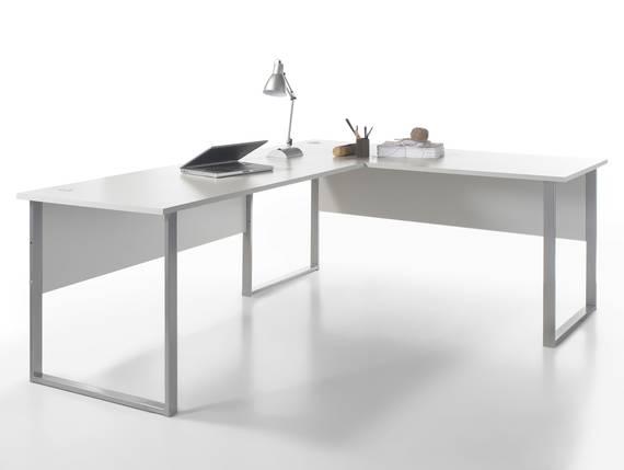 OFFICE DELUXE Winkelkombination, Material Dekorspanplatte, grau  DETAIL_IMAGE